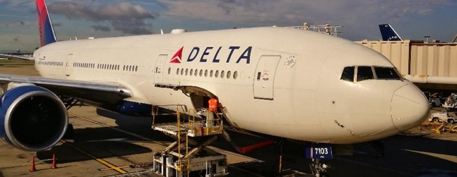 review of delta air lines flight from atlanta to los angeles in economy. Black Bedroom Furniture Sets. Home Design Ideas