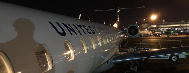 review of united express commutair flight newark ithaca in economy