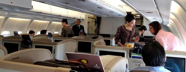 Review of Singapore Airlines flight from Taipei to Singapore ...